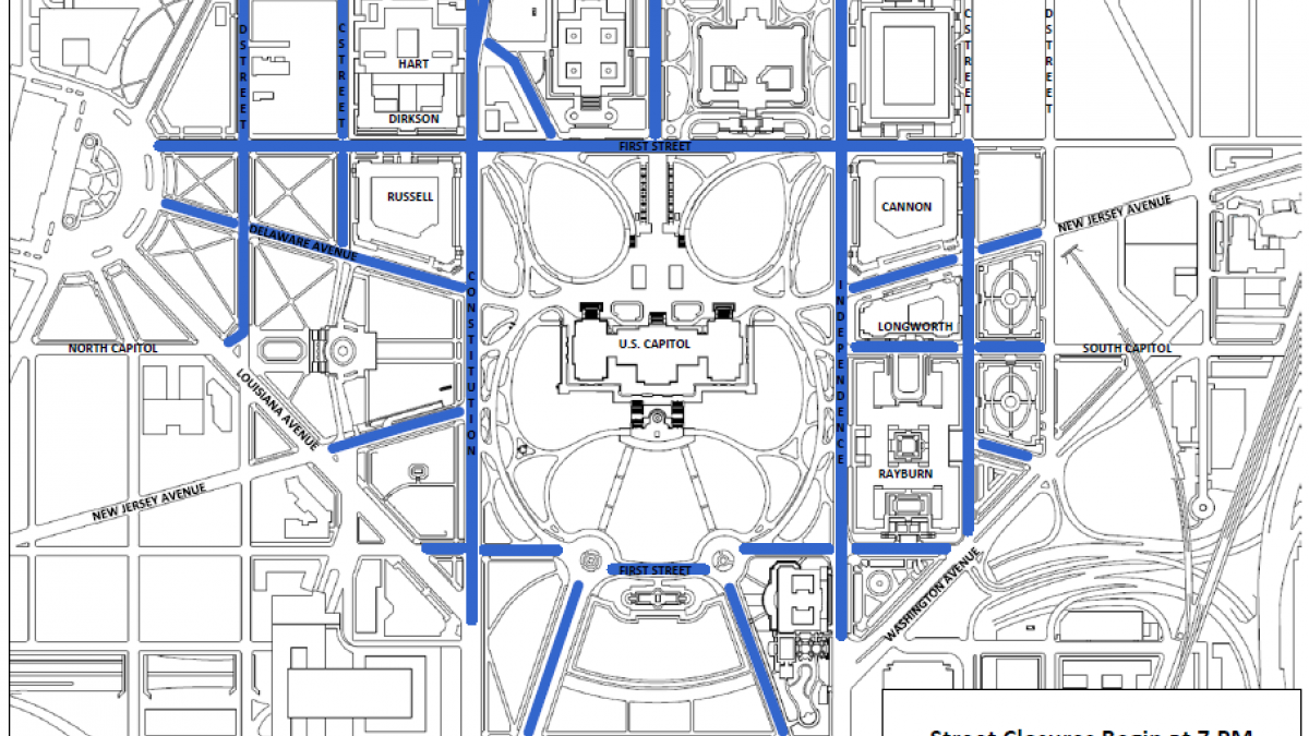 Joint Session Of Congress To Be Held February United - Us capitol grounds map